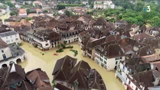 Inondations à Salies de Béarn Vues Aériennes