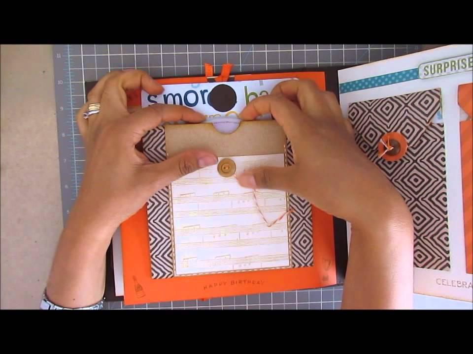 Album mis 5 sentidos scrapbooking youtube - Como hacer un album de fotos ...