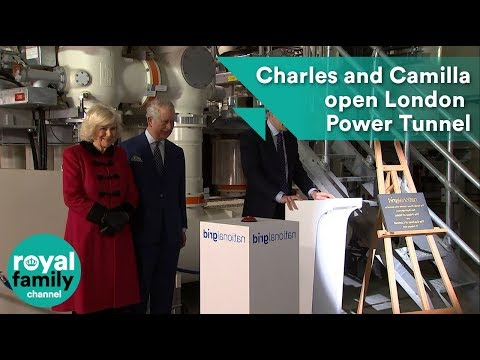 Prince Charles and Camilla open new London Power Tunnel