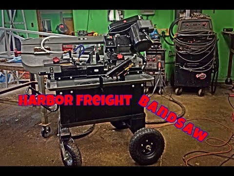 Harbor Freight Hydraulic Band Saw --- New Style ---