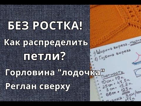 Вязание/Горловина БЕЗ РОСТКА/Распределение петель