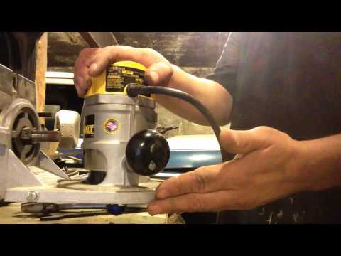 How To Convert Craftsman Radial Arm Saw To Over Arm Router