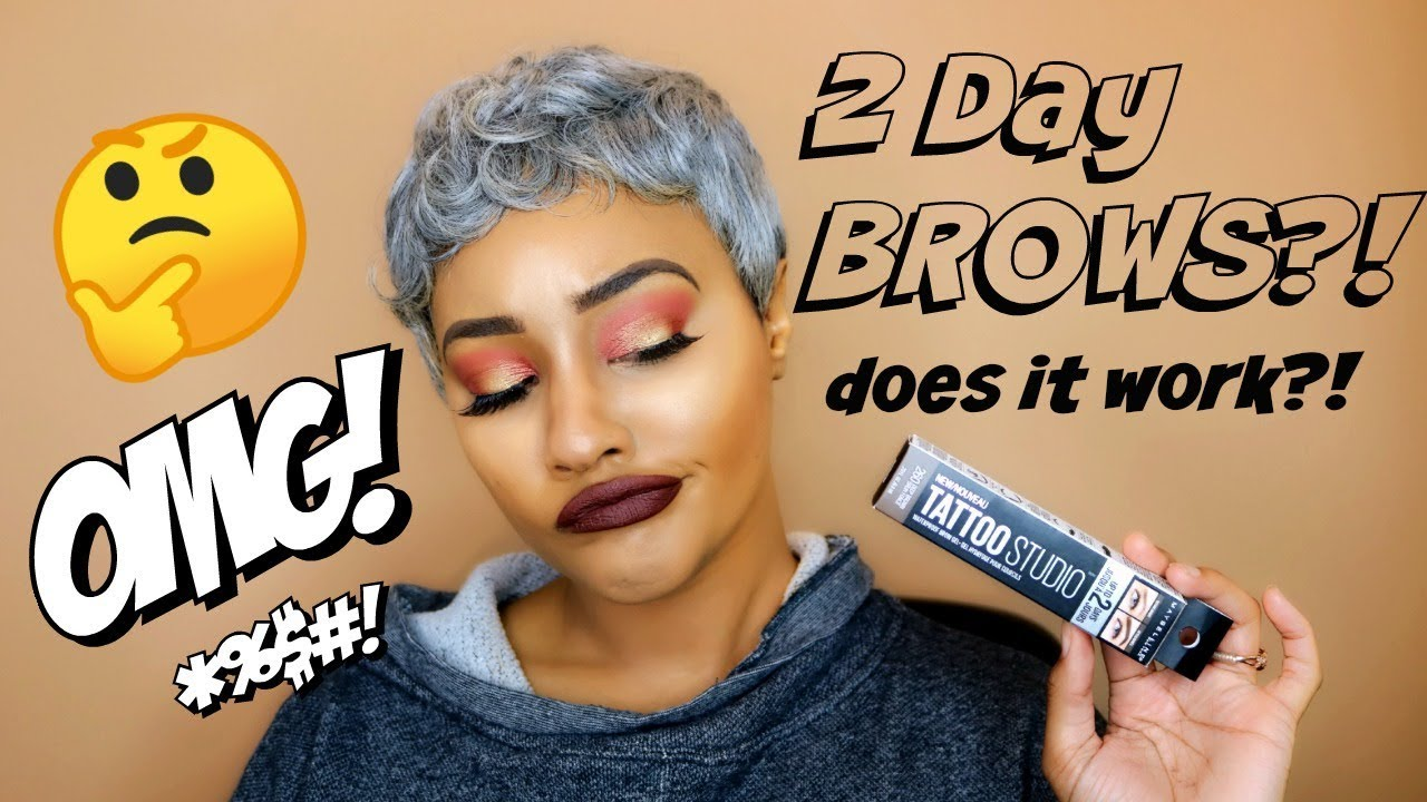 TESTING OUT the NEW Maybelline TATTOO STUDIO BROW GEL 😱 SNATCHED BROWS FOR 2 DAYS?!