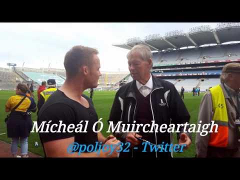 "An Irish cultural icon, Mícheál Ó Muircheartaigh ""next we will here of a Gaelic team in Space"""