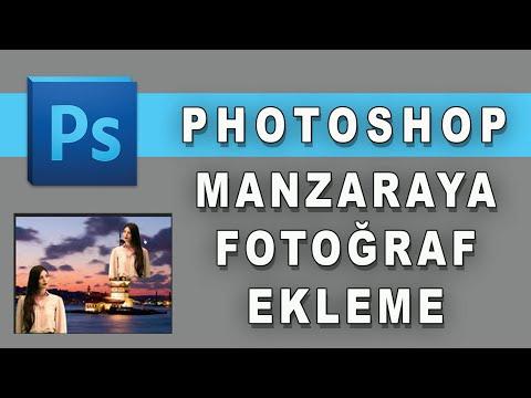 Photoshopta Manzaraya Fotoğraf Ekleme