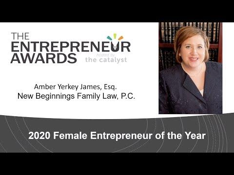Attorney Amber Yerkey James Recognized as 2020 Female Entrepreneur of the Year in Huntsville Alabama