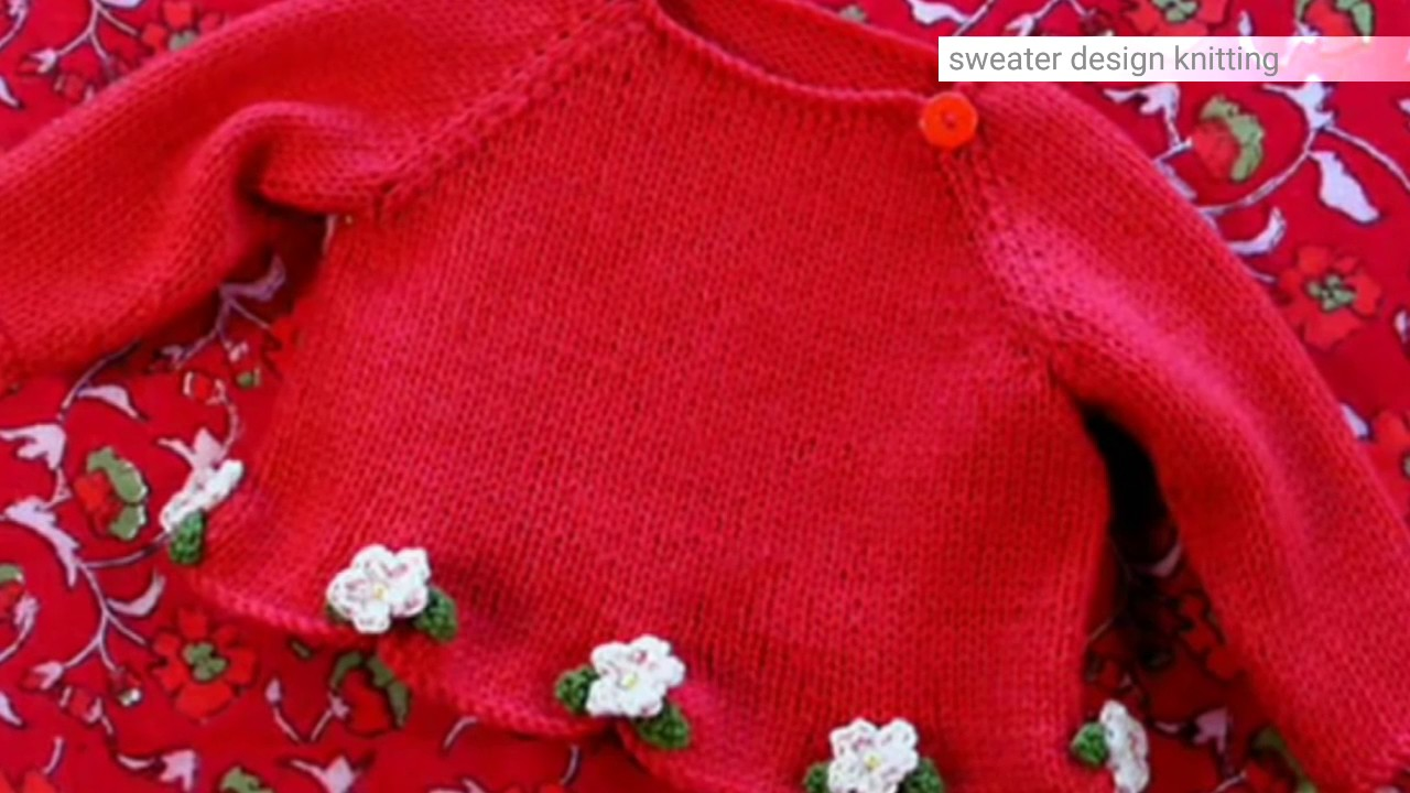 cdb499fde hand-knitted BABY SWEATER- Cardigan-Sweater Made Easy