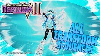 Megadimension Neptunia VII - All Transformation Sequences