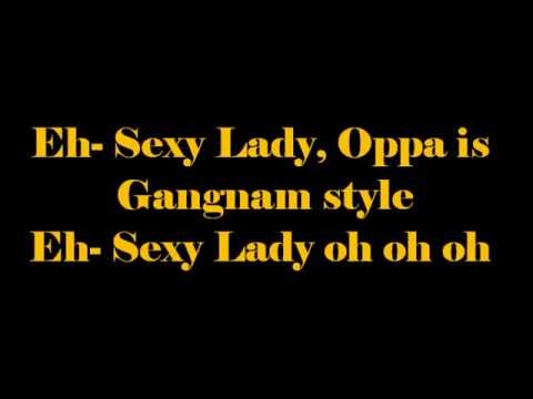 what is the gangnam style song lyrics in english