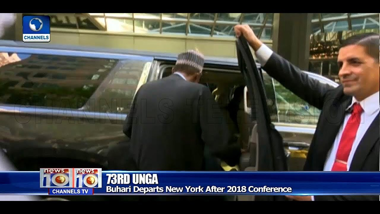 President Buhari Departs New York After 2018 United Nations General Assembly