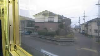 JR東日本115系「越後線」白山行きが吉田駅を発車(車内より)