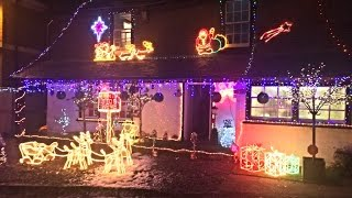Christmas lights switch on 2016 the Freer family