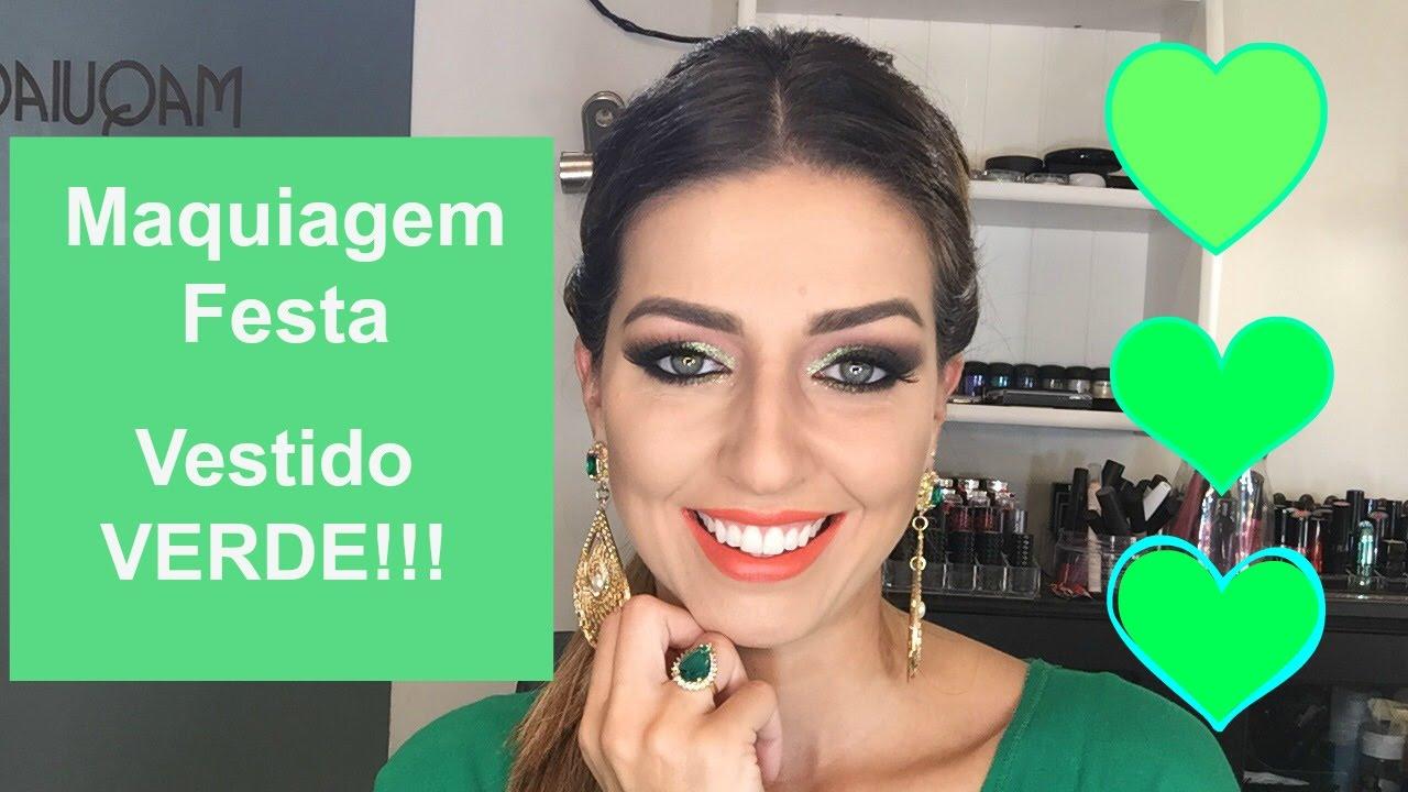 Maquiagem para casamento madrinha vestido verde escuro
