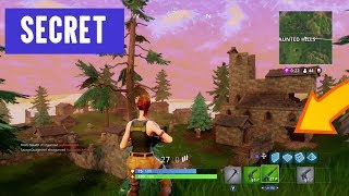 *SECRET* UNDERGROUND LOOT CAVES at Haunted Hills: (Fortnite Battle Royale!) (INSANE)