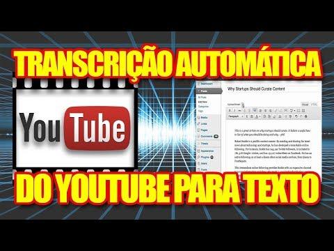 Transcrição Automática do Youtube Para Texto - Gere Conteúdo Facilmente Para Seu Blog