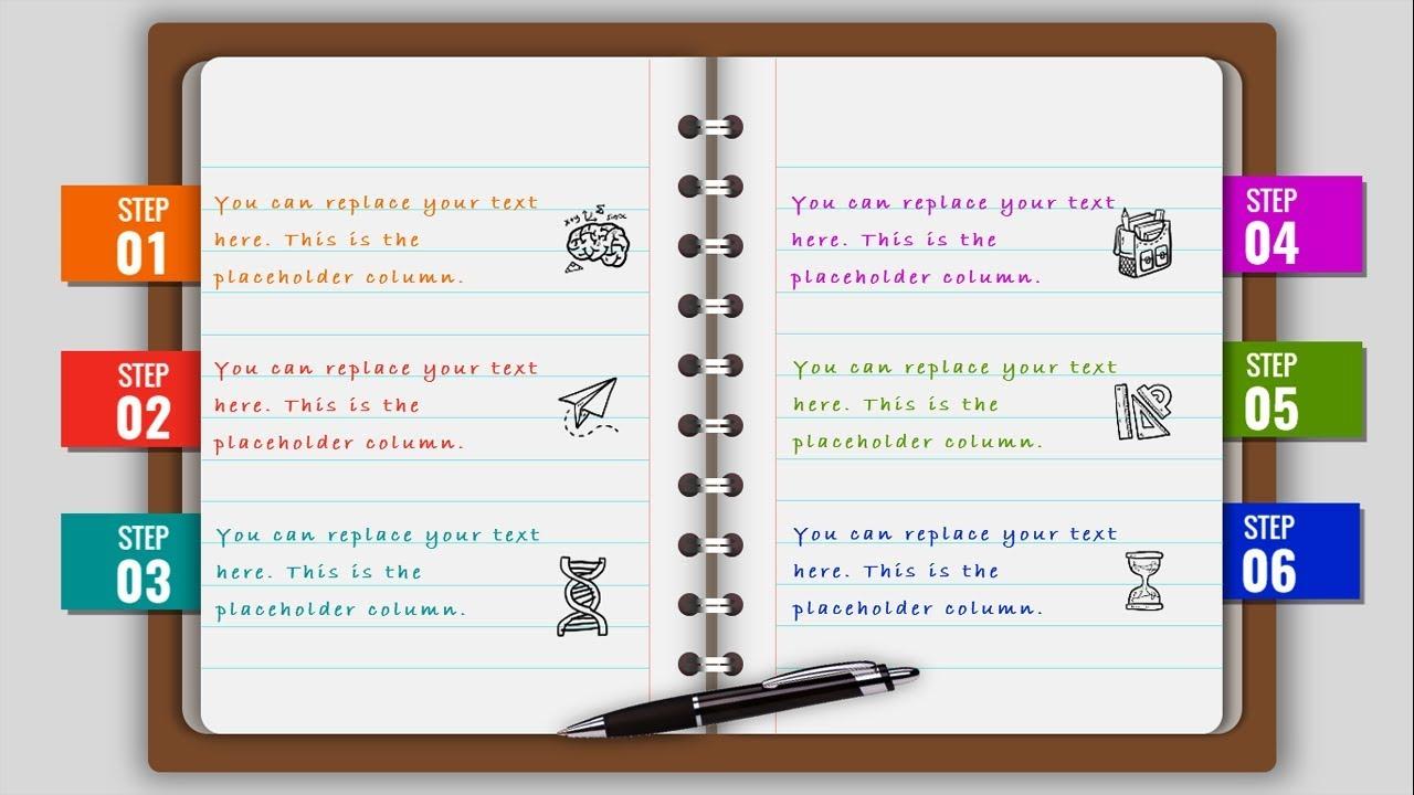 Multipurpose Powerpoint Template Notebook Design Business Infographics Powerpoint Presentation