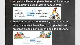 Fysiikka (FyKe7) - 11. Energian muuntuminen