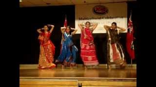 Four East Indian Dancers from Nirmal Dance Company 24 June 2012
