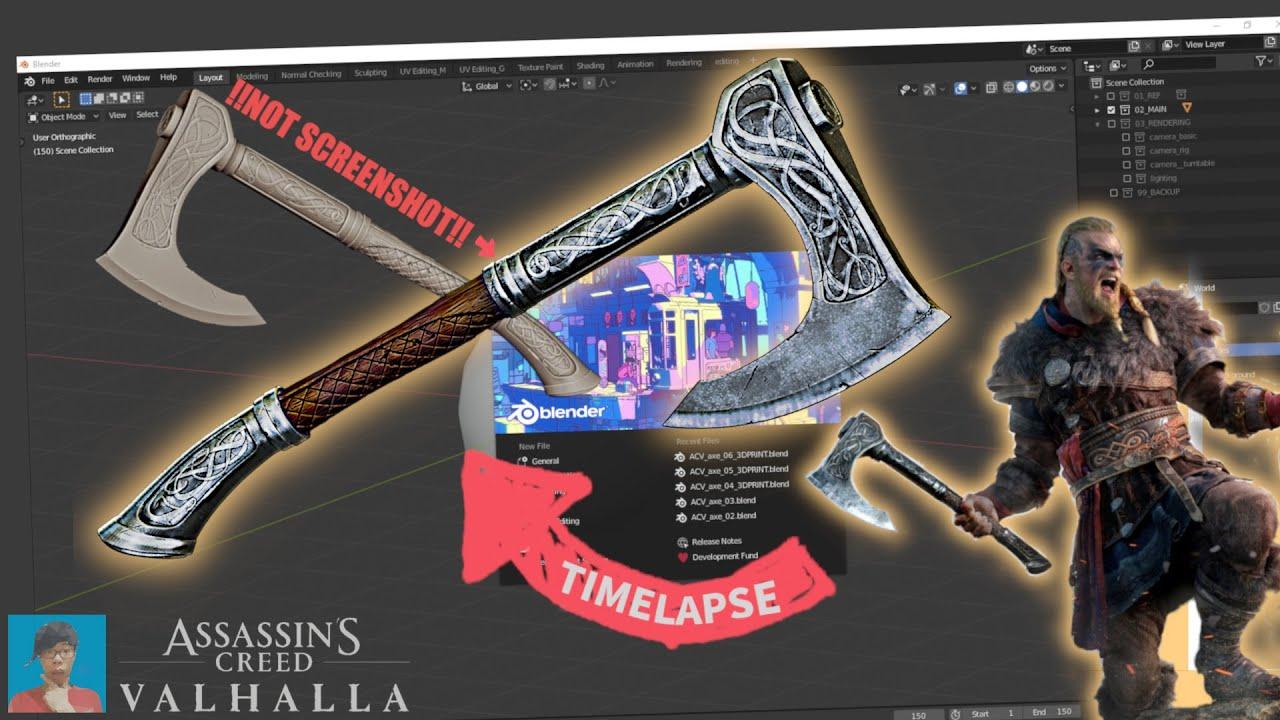 Modeling Viking Axe In Blender 2 8 Assassin S Creed Valhalla Youtube