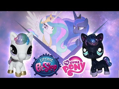 Custom LPS Princess Celestia & Luna || My Little Pony + Littlest Pet Shop Mashup