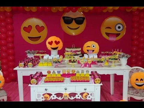 Fiesta de emojis 2017 fiestas infantiles mesa de dulces - Ideas para fiestas infantiles ...