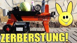 Experiment - Dinge mit dem BRENNHOLZSPALTER ZERSPALTEN!!! (4 Tonnen)