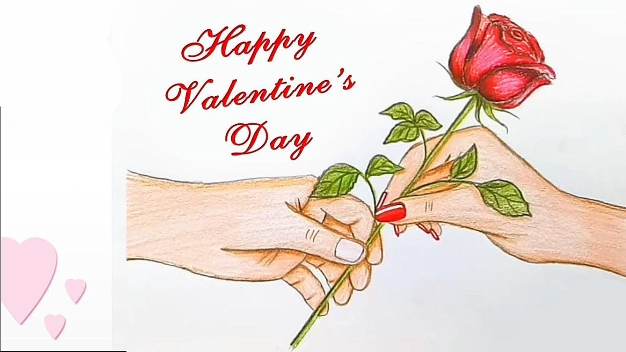 Valentine S Day Drawing Step By Step Youtube