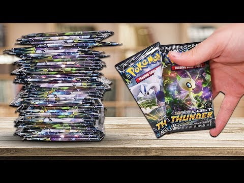 Opening 36 Pokemon Lost Thunder Booster Packs (Booster Box)
