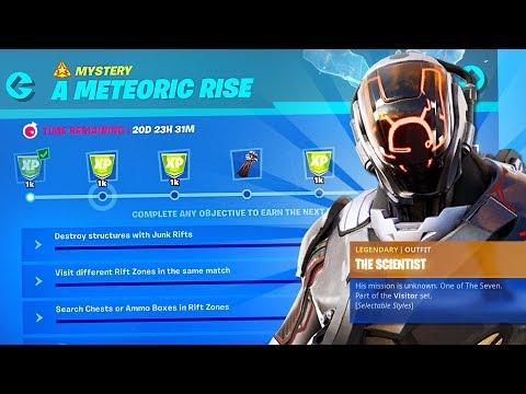 New SEASON 10 SCIENTIST SECRET SKIN Challenges! (Fortnite Battle Royale)