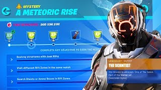 New SEASON 10 SCIENTIST SECRET SKIN Challenges! (Fortnite Battle Royale)