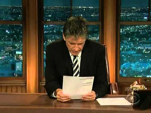 Late Late Show with Craig Ferguson 8/4/2009 Tony Shalhoub, Minka Kelly