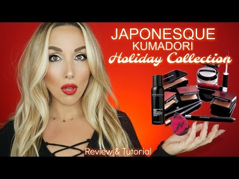 JAPONESQUE KUMADORI HOLIDAY COLLECTION 2017 REVIEW & TUTORIAL