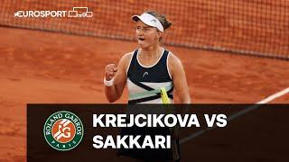 Barbora Krejcikova - Maria Sakkari   Półfinał   Roland Garros