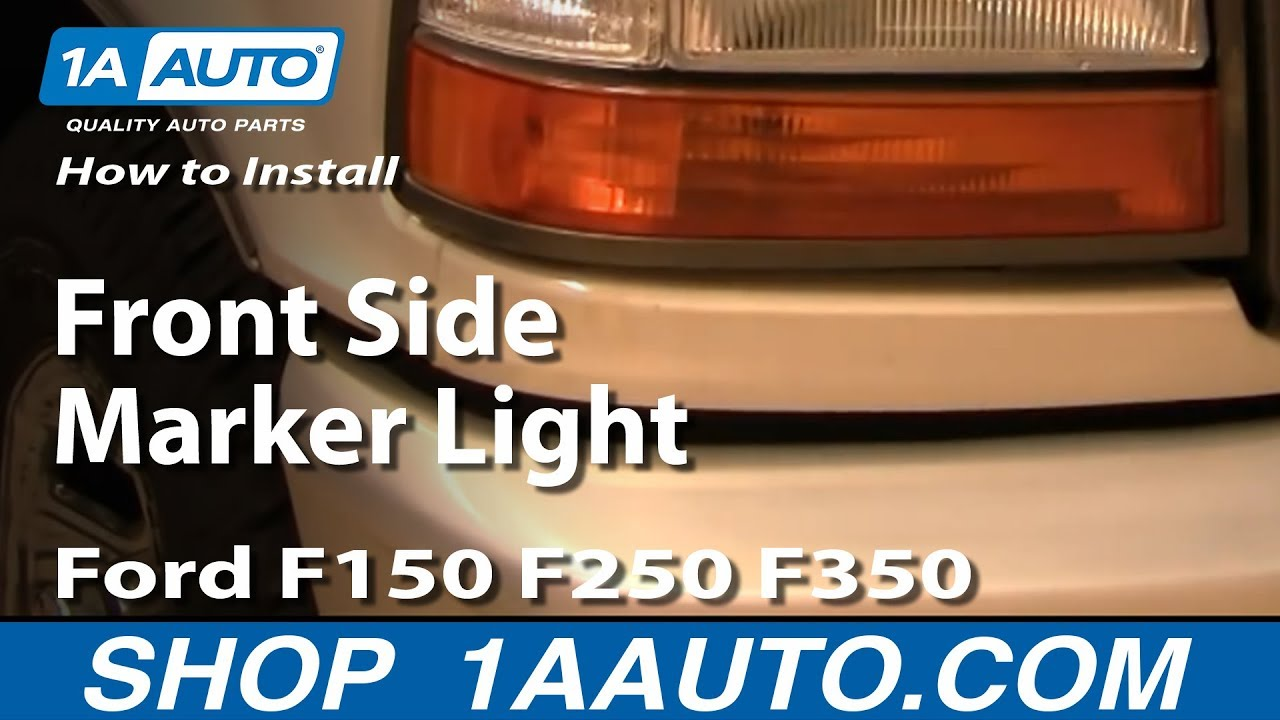 How To Replace Front Side Marker Light 92 96 Ford F150 250 350 Youtube Drivers Door Wiring Diagram For F