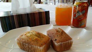 ASMR : eating sounds -  LEMON CAKE & BANANA CHOCOLATE CHIPS CAKE * MUNCHING * BURPING * CHEWING *