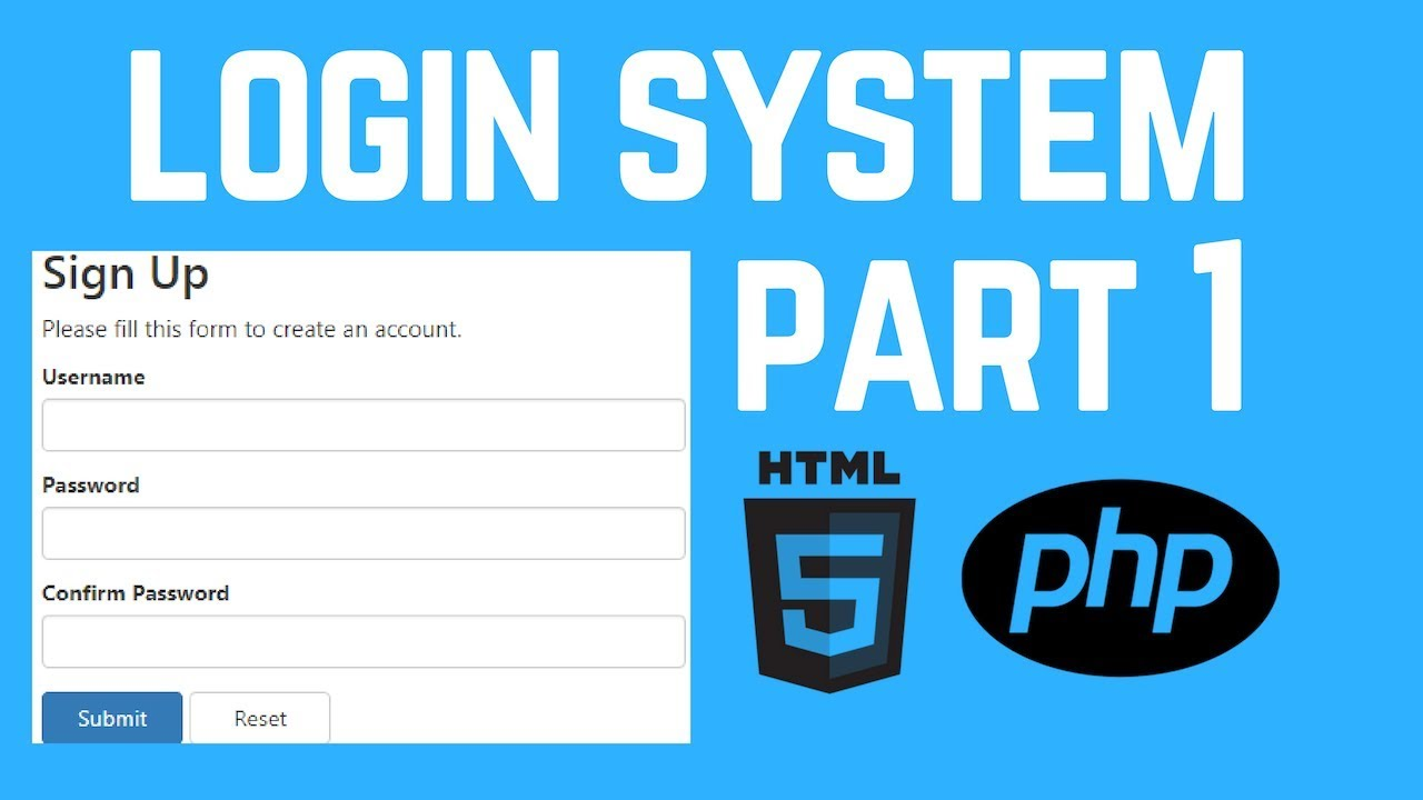 How to Create a Login and Register System using PHP
