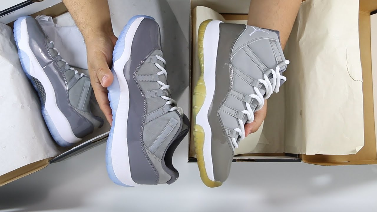 996fea496d7b How Does the Air Jordan 11 XI Cool Grey Compare to the 2018 Cool Grey Low