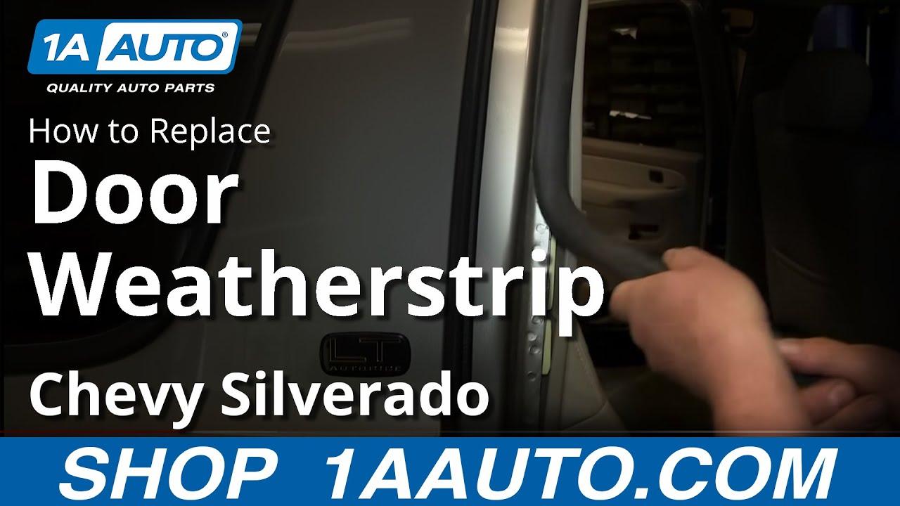 how to install replace door weatherstrip seal 2000 06 chevy suburban tahoe [ 1280 x 720 Pixel ]