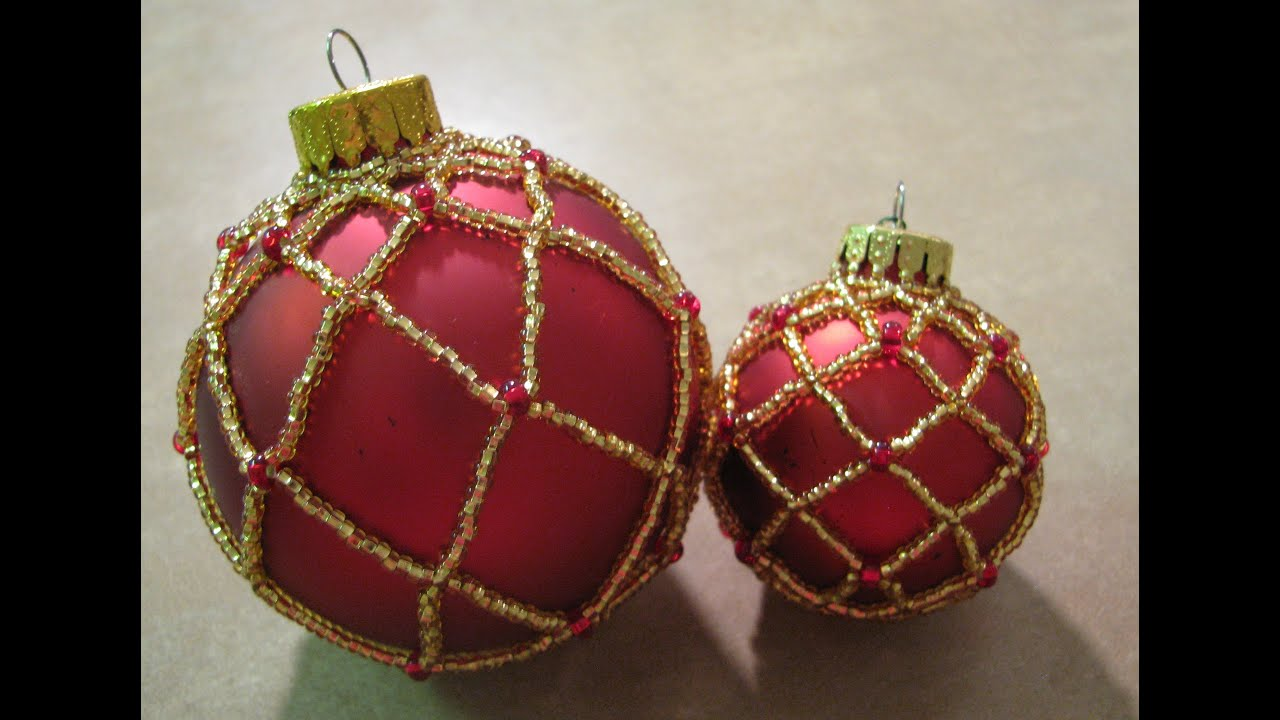 Large Beaded Ornament ~ Part 1 of 2 - YouTube