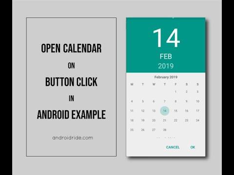 Open Calendar on Button Click in Android Example - Kotlin
