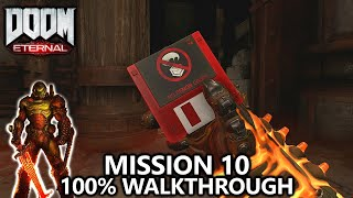 DOOM Eternal - Mission 10 - 100% Walkthrough - All Secrets, Collectibles, Upgrades & Challenges