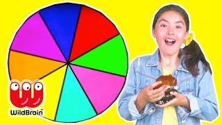 Spin The Wheel 🎡 Learn Colors With Gummy Candy - Princesses In Real Life | WildBrain Kiddyzuzaa