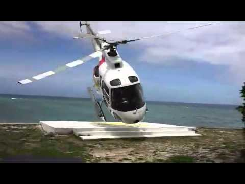 Fiji helicopter crash (longer w/ audio)