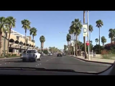 driving through Palm Springs California