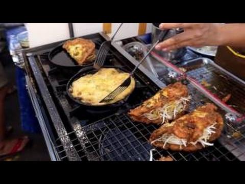 泰國街頭小吃 泰國小吃市場 炸螃蟹 炸魷魚等壹系列 #52 - YouTube
