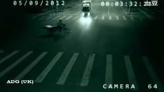 Viaje en el tiempo o teletransportacion captado en camara de seguridad,  2012 HD