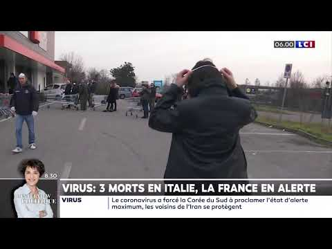 Virus: 3 morts en Italie, la France en alerte