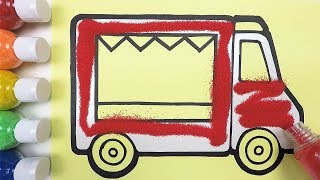 Truck coloring & drawing & studying English for kids ㅣ 트럭 그리기 색칠하기 영어 공부