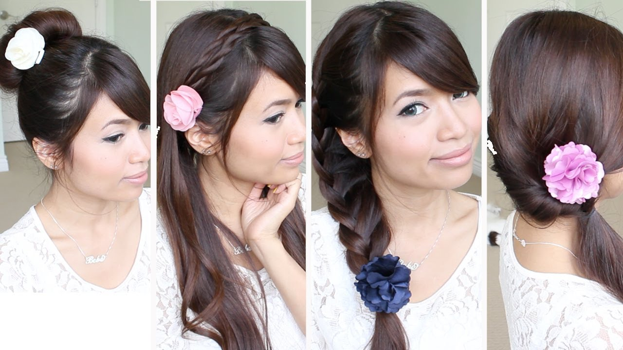 Cute Easy Hair Styles For Long Hair: Quick & Easy Back-to-School Hairstyles For Medium Long