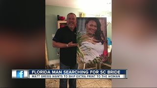 Florida man searches for South Carolina bride after photo canvas mix-up